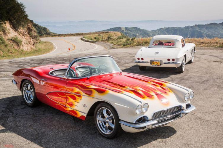 1961 Corvette chevy chevrolet convertible custom (c1) cars wallpaper