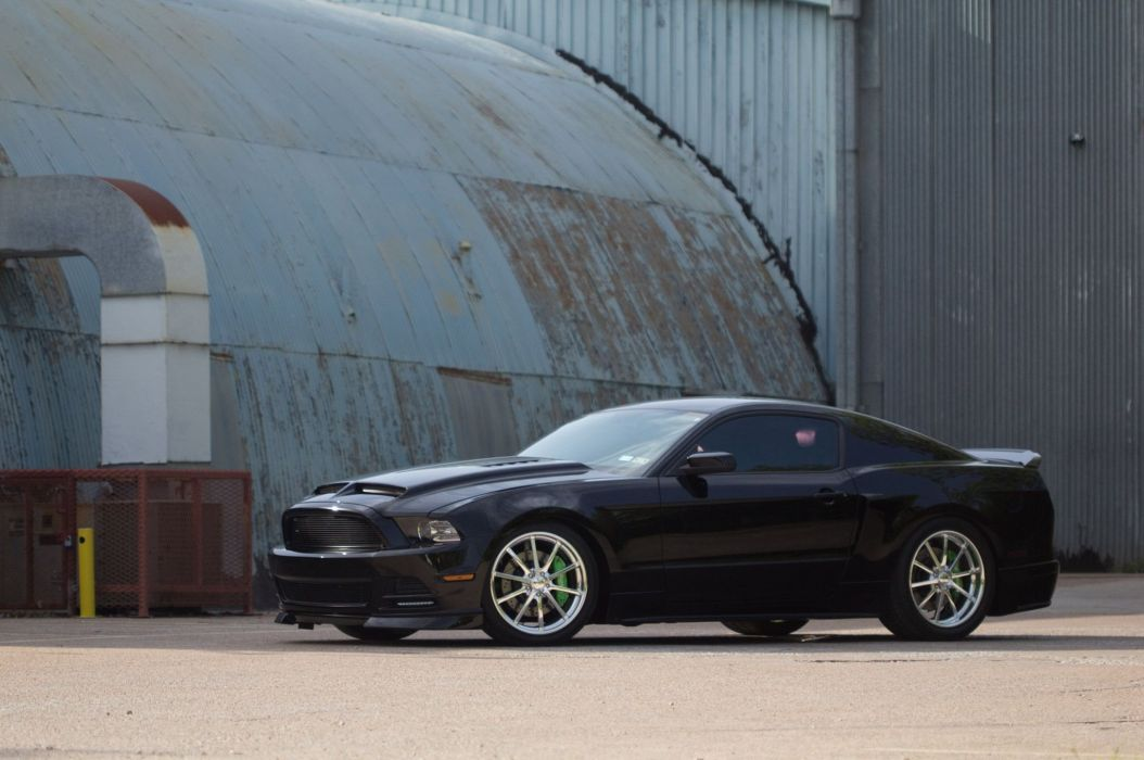 2014 S197 Ford Mustang coupe cars black wallpaper