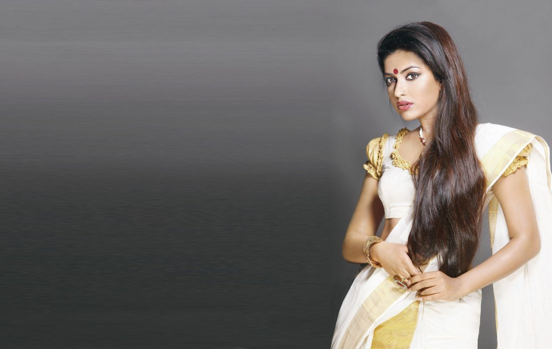 Amala paul actress model girl beautiful brunette pretty cute beauty sexy hot pose face eyes hair lips smile figure indian  wallpaper