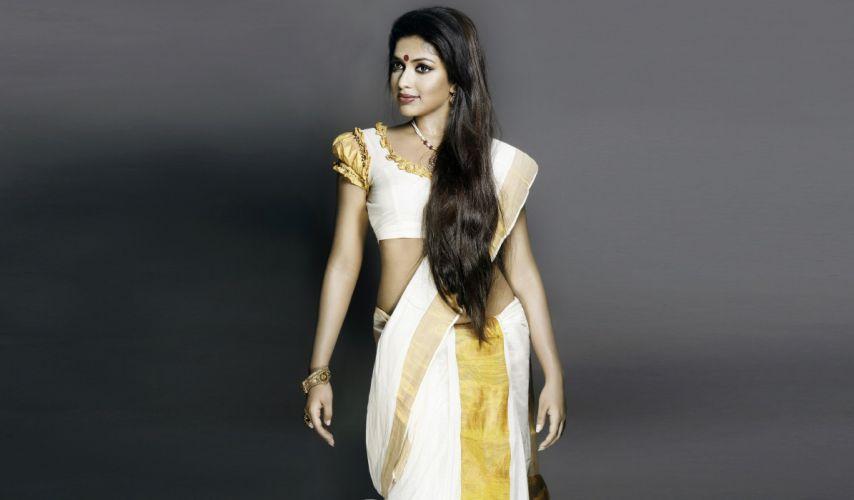 Amala paul actress model girl beautiful brunette pretty cute beauty sexy hot pose face eyes hair lips smile figure indian wallpaper