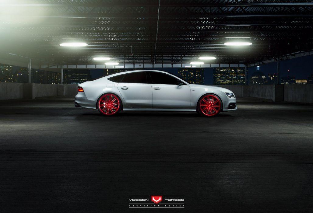 audi-s7 coupe Vossen Wheels cars wallpaper