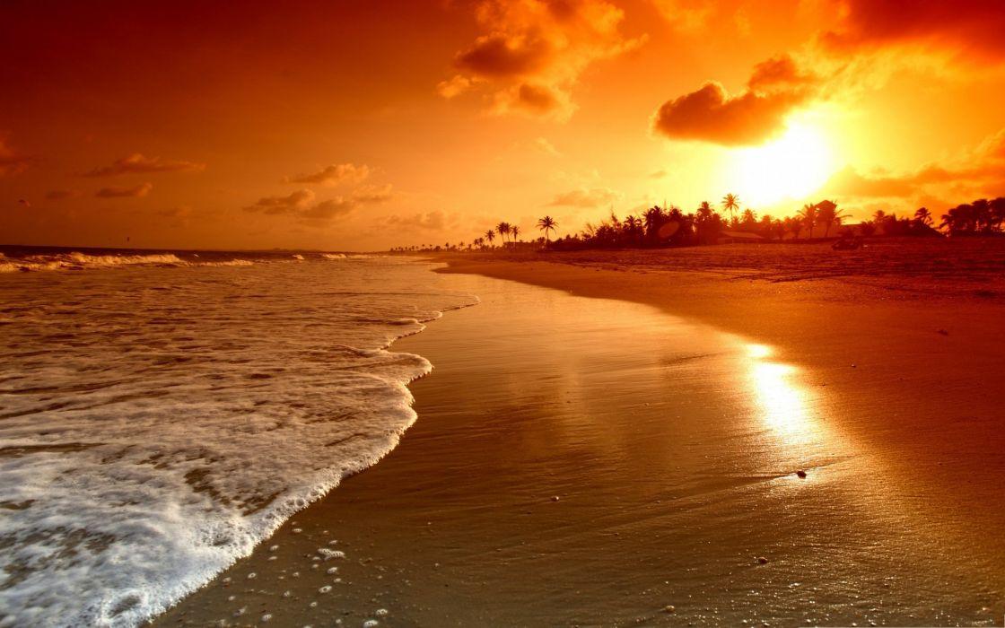 beach sunset sky beauty beautiful sea ocean wallpaper