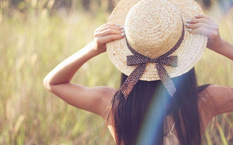 girl mood summer long hair hat wallpaper