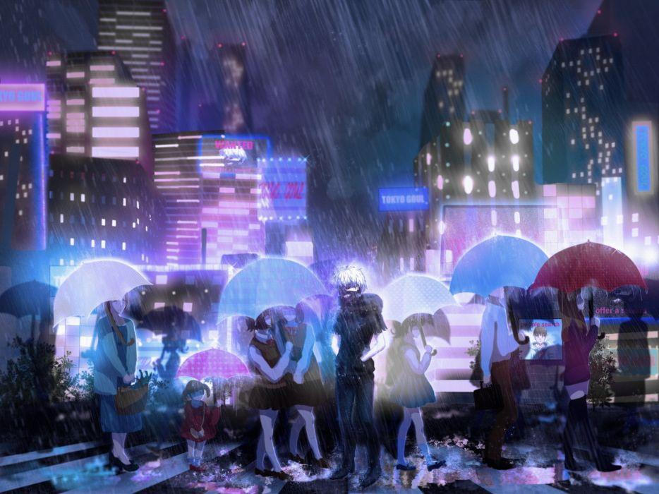 Anime Series Tokyo Ghoul Rain City Wallpaper 2000x1500