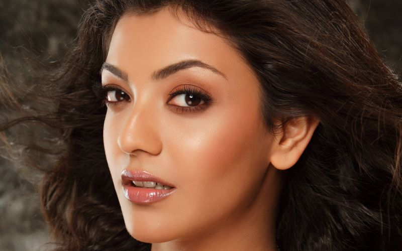 kajal aggarwal bollywood actress model girl beautiful brunette pretty cute beauty sexy hot pose face eyes hair lips smile figure indian wallpaper