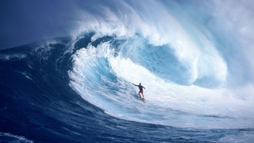 sea ocean male sport amazing blue beauty wallpaper