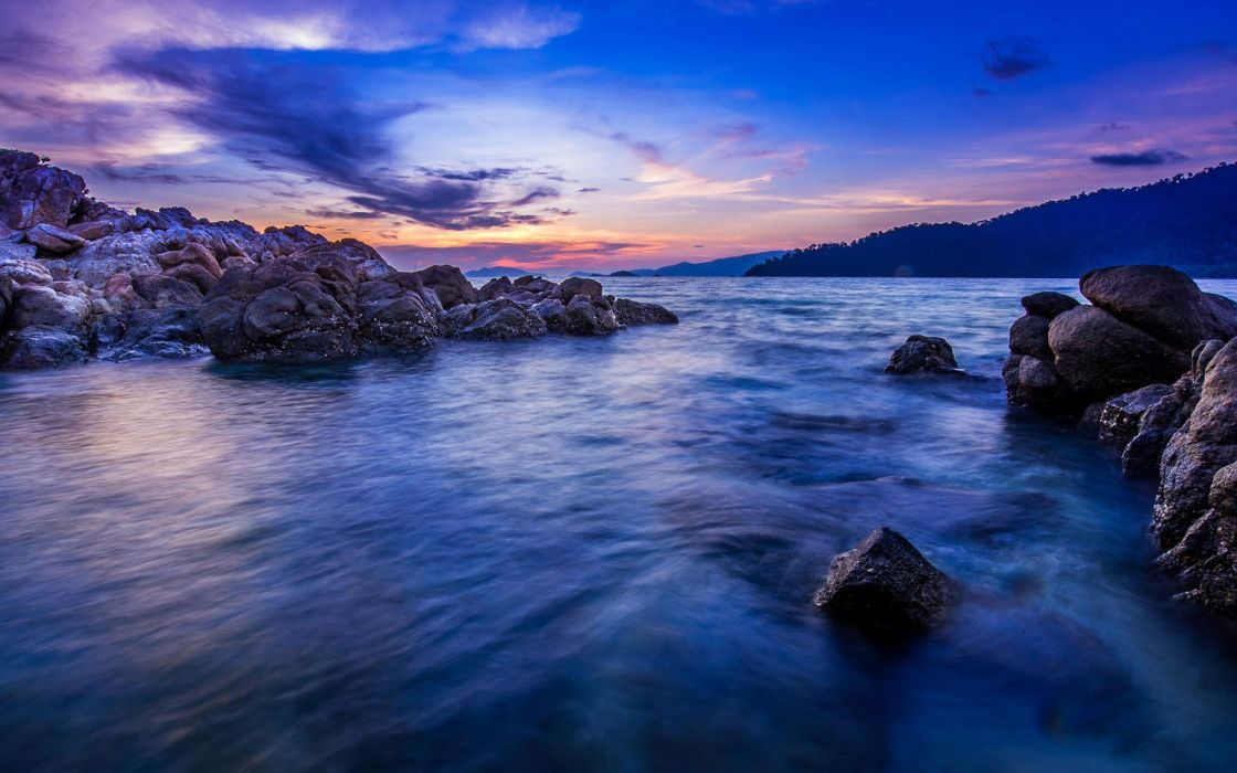 sunset beauty beautiful sea nature landscape ocean wallpaper