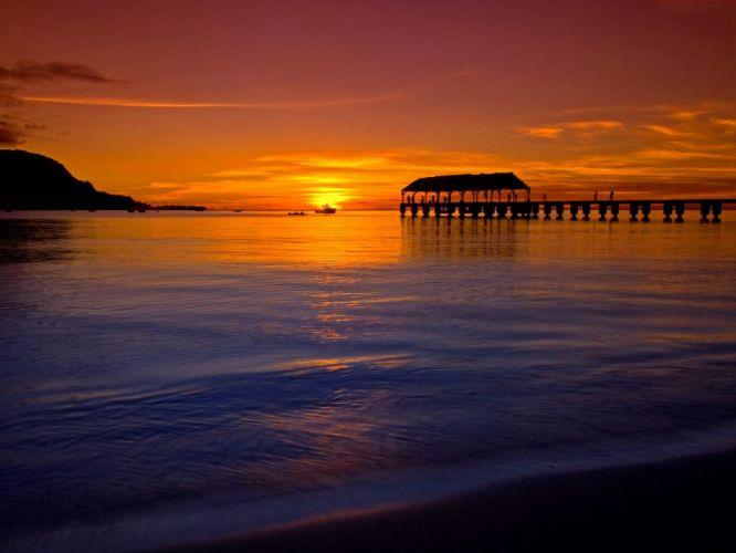 sunset summer beauty beautiful sea beach nature landscape ocean wallpaper