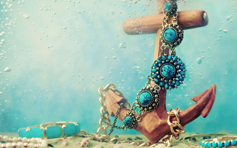 beautiful blue boat chain necklace jewelry wallpaper