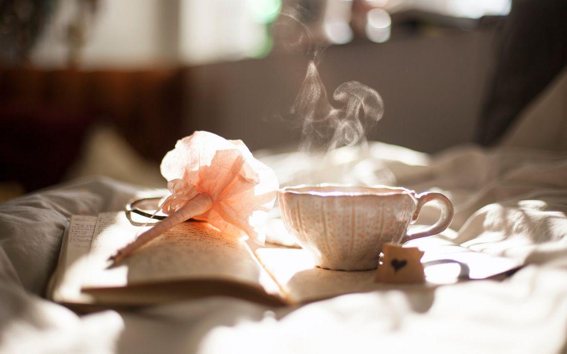 Coffee mood peace smoke book drink wallpaper