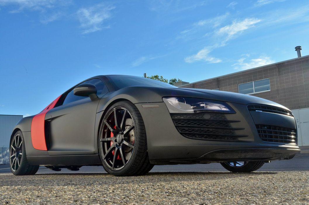 Audi-R8 TSW Wheels ZR-Auto black matt cars modified wallpaper