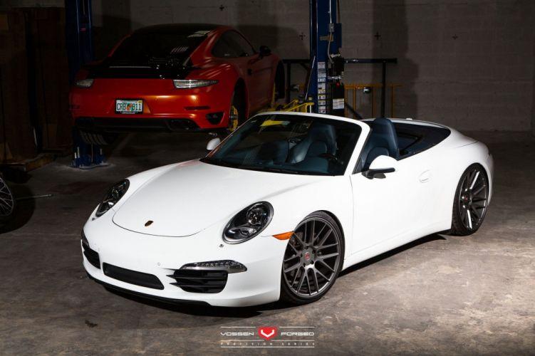 Porsche 991 911 Cabriolet cars Vossen Wheels wallpaper