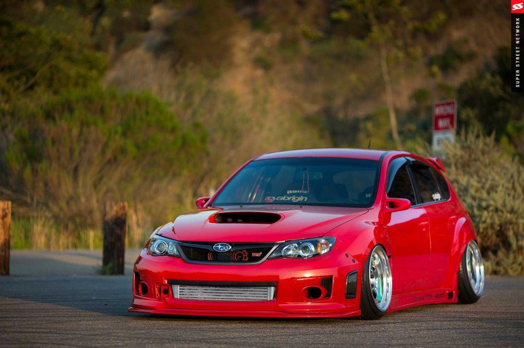 2009 Subaru STI Hatchback red cars modified wallpaper | 2048x1360 ...