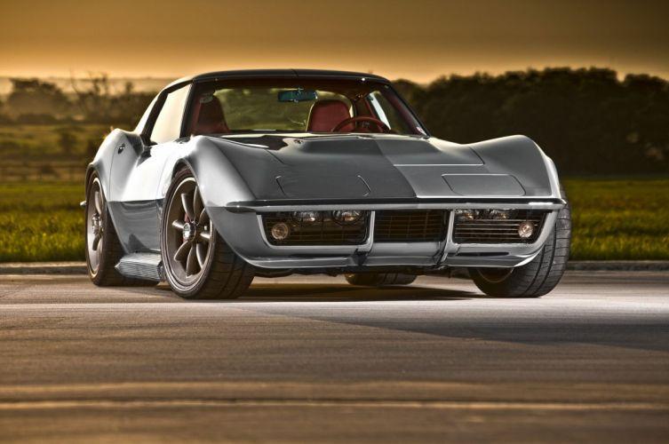 Pro Touring 1968 Chevrolet chevy Corvette coupe (c3) wallpaper