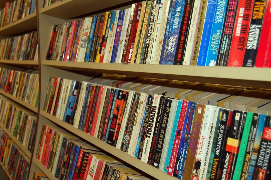libros estanterias biblioteca wallpaper
