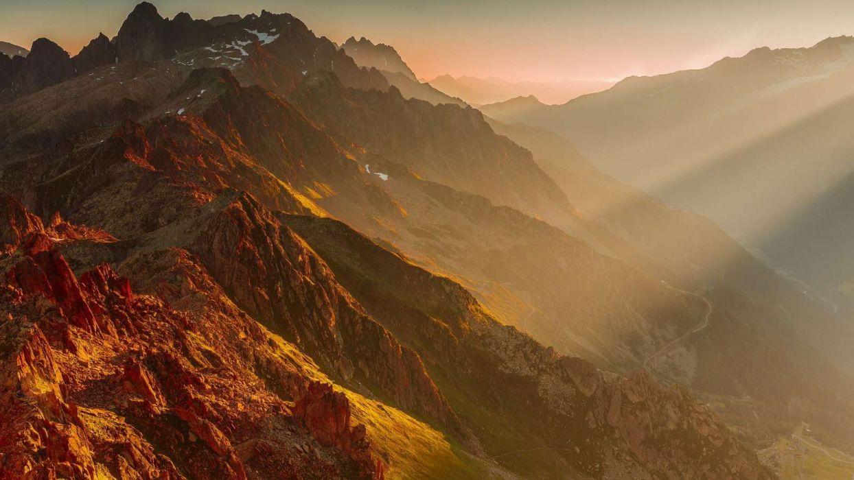 amazing beautiful landscape nature sky clouds sunset mountain wallpaper