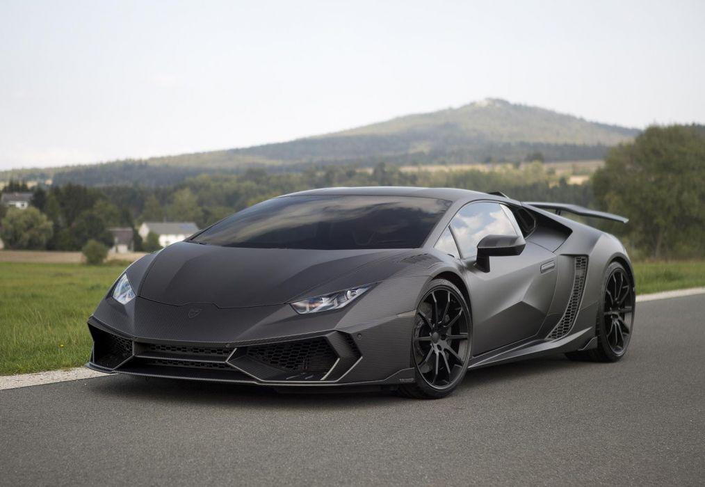Lamborghini Huracan Mansory carbon black cars supercars modified wallpaper