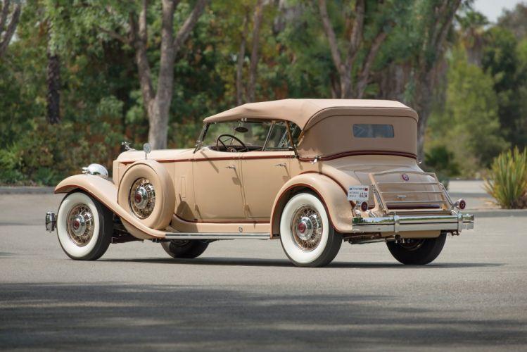 1932 Packard Twin Six Individual Custom Sport Phaeton by Dietrich classic cars wallpaper