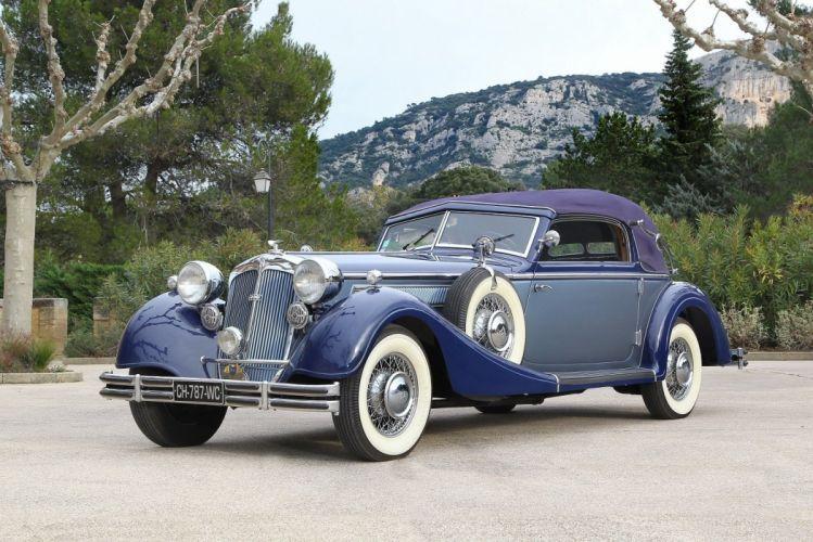 1937 853 cabriolet horch luxury retro Sport classic cars wallpaper