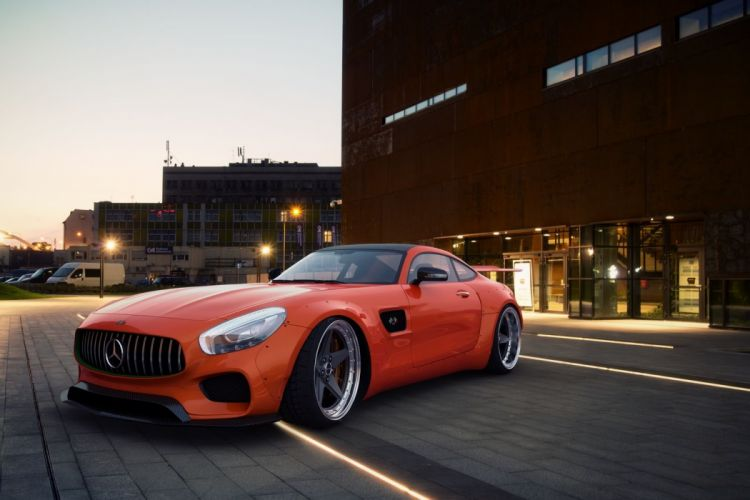 GWA Mercedes GTS cars coupe bodykit cars modified wallpaper