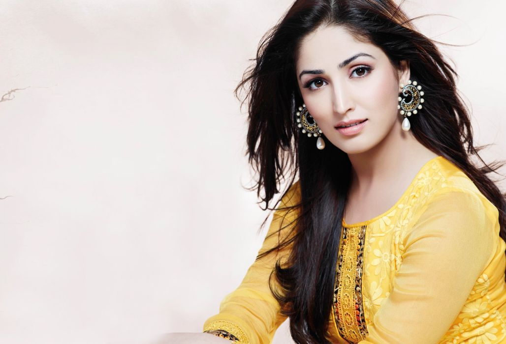 yami gautam bollywood actress model girl beautiful brunette pretty cute beauty sexy hot pose face eyes hair lips smile figure indian  wallpaper