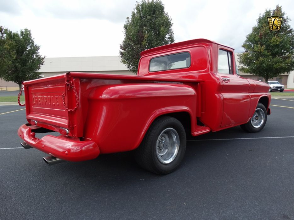 1963 Chevrolet C10 cars pickup red classic wallpaper