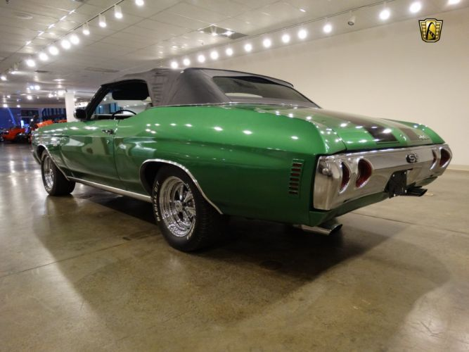 1972 Chevrolet chevy Chevelle convertible green classic cars wallpaper