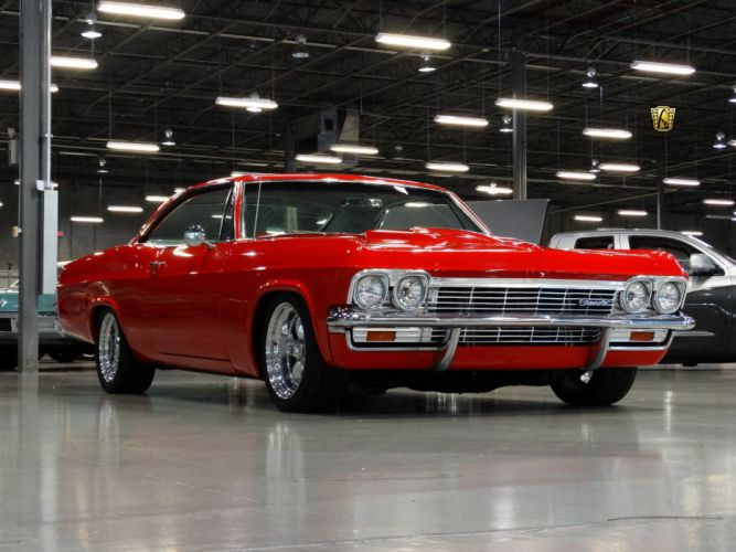 1965 Chevrolet chevy red Impala classic cars wallpaper