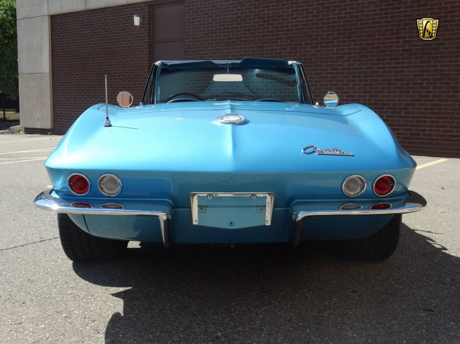 1965 (c2) Chevrolet chevy blue corvette convertible classic cars wallpaper