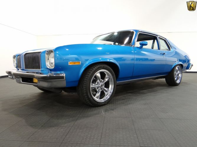 1974 Oldsmobile Omega blue coupe classic cars wallpaper