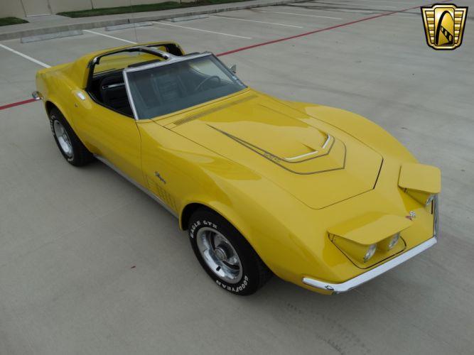 1972 Chevrolet chevy corvette stingray yellow coupe classic cars wallpaper