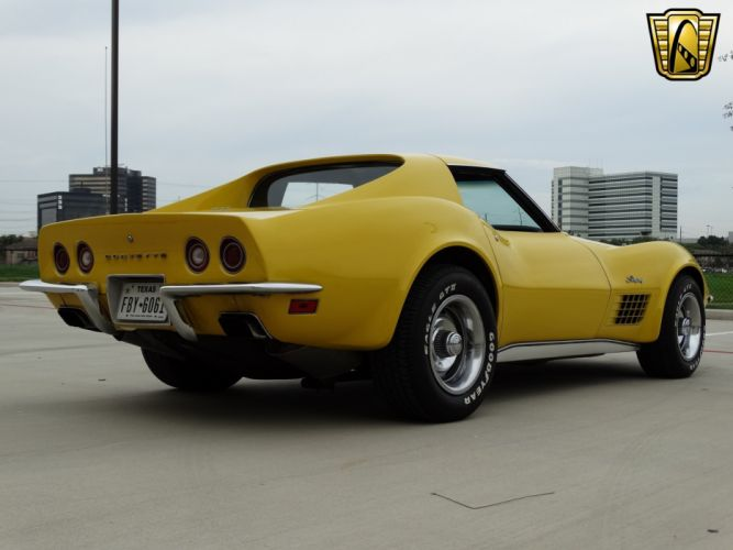 1972 Chevrolet chevy corvette stingray yellow coupe classic cars wallpaper