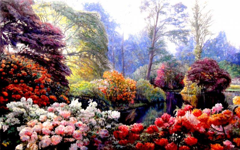 Spring Colors art painting flower wallpaper