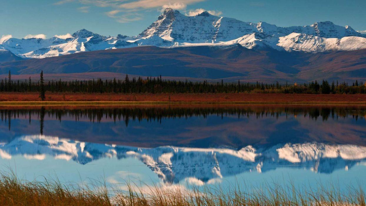 nature landscape beauty beautiful sky mountain lake wallpaper
