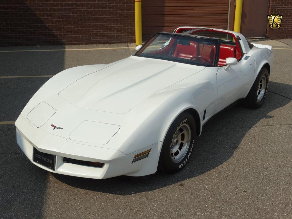 1981 (c3) Chevrolet chevy corvette coupe white classic cars wallpaper