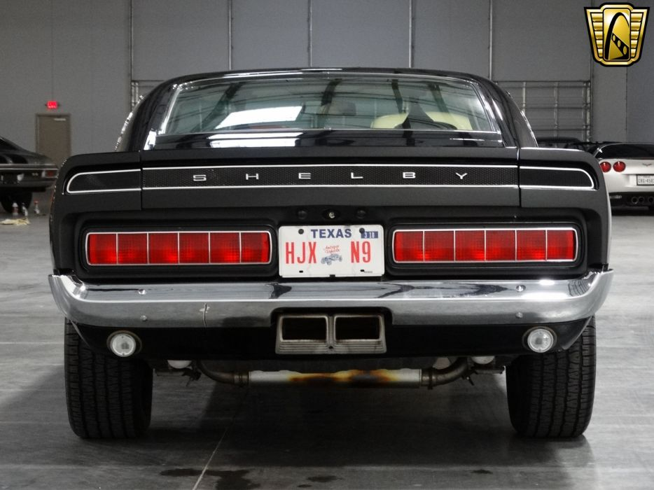 1969 Ford Mustang gt500 shelby coupe black classic cars wallpaper