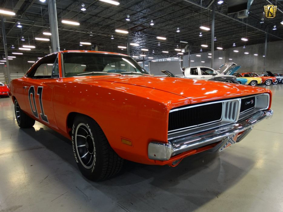 1969 Dodge Charger General Lee Orange Classic Cars Wallpaper