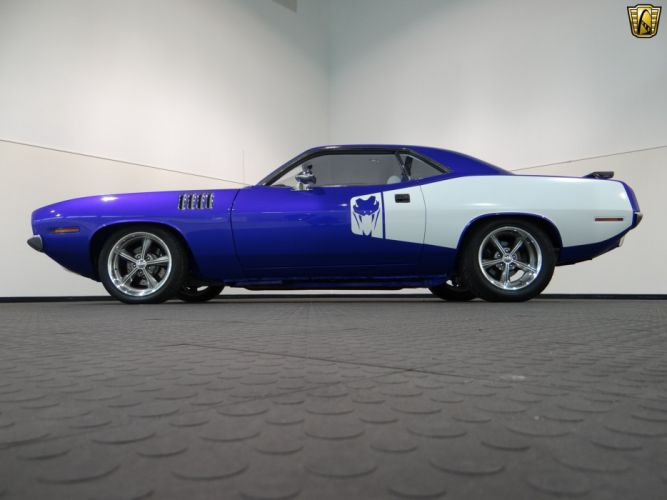 1973 Plymouth Barracuda cuda Pro-Touring cars coupe classic wallpaper