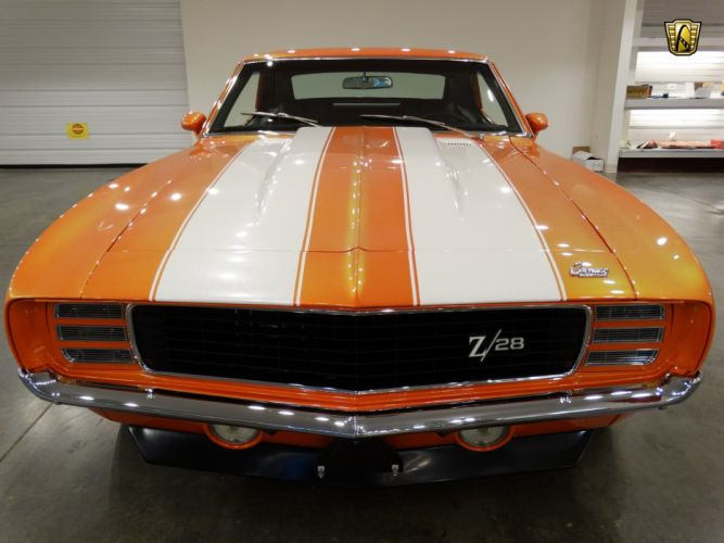 1969 Chevrolet Camaro z28 orange coupe cars classic wallpaper