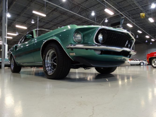 1969 Ford Mustang Mach 1 cars coupe classic green wallpaper