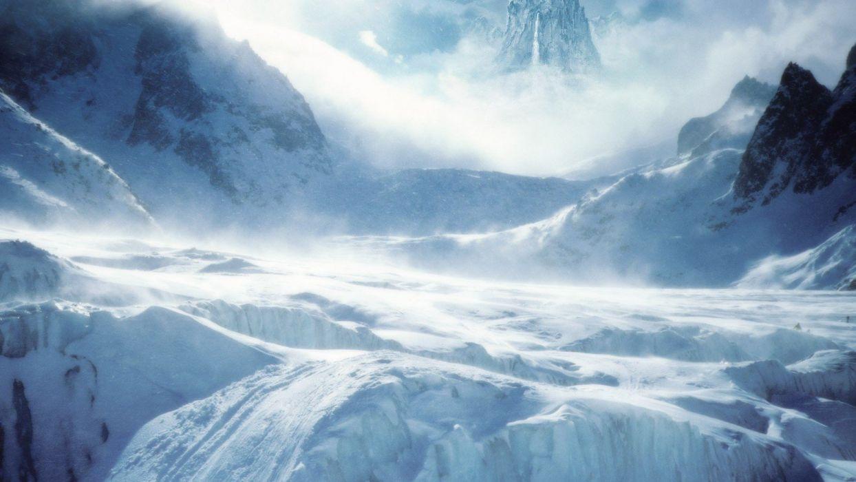 nature landscape beauty beautiful sky mountain winter snow ice wallpaper