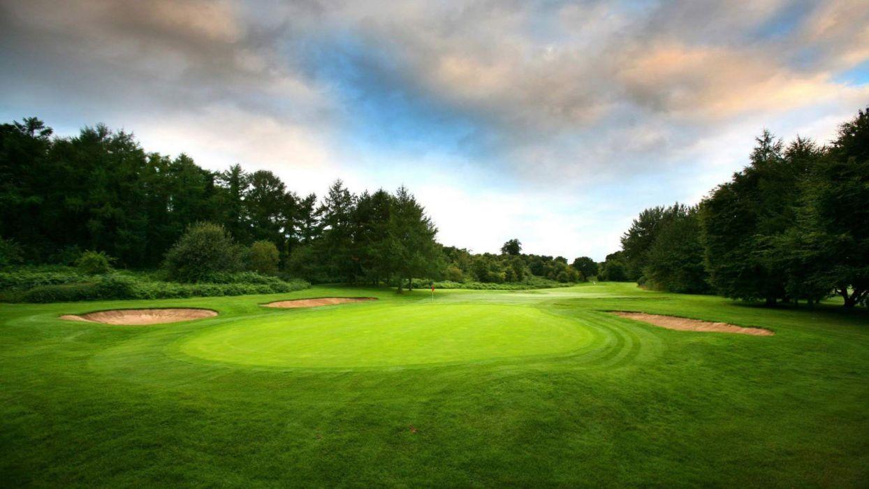 golf links nature landscape beauty tree beautiful sky wallpaper