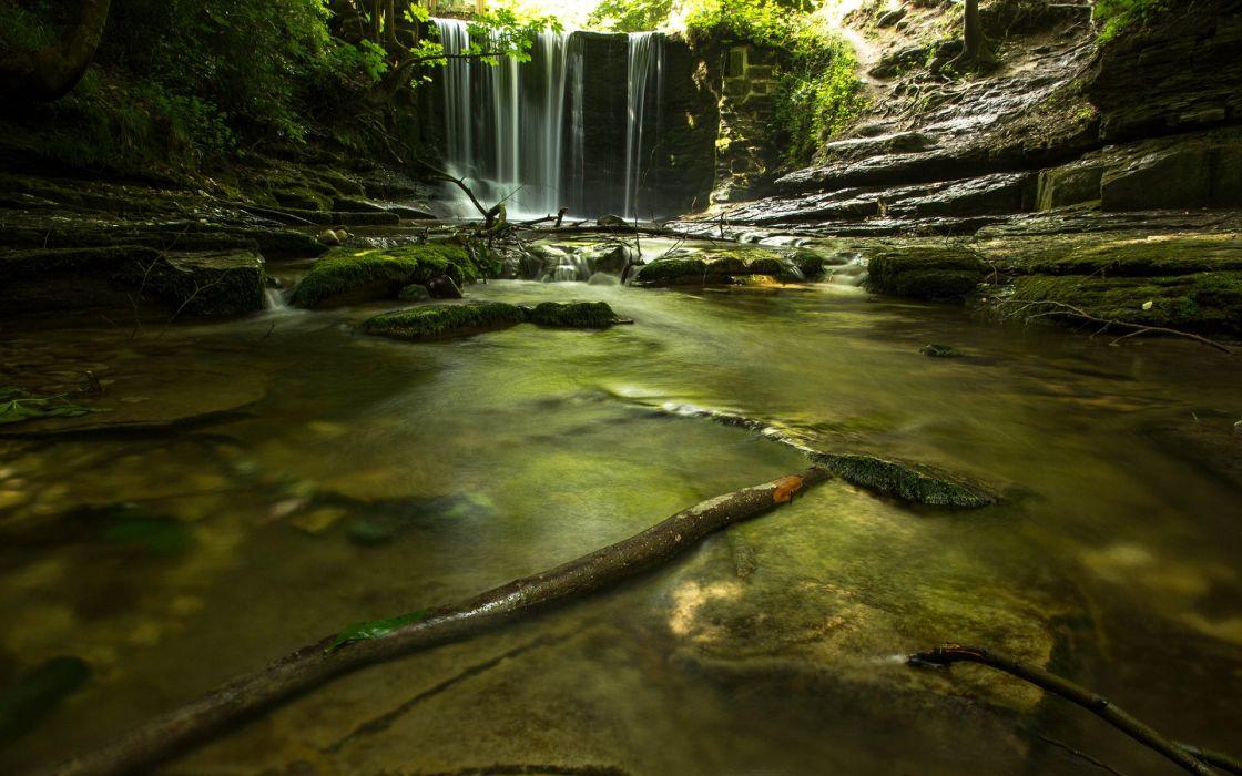 nature landscape beauty beautiful river waterfall wallpaper