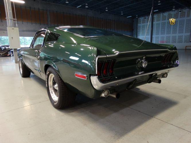 1968 Ford Mustang Bullitt 390 Fastback green cars classic wallpaper