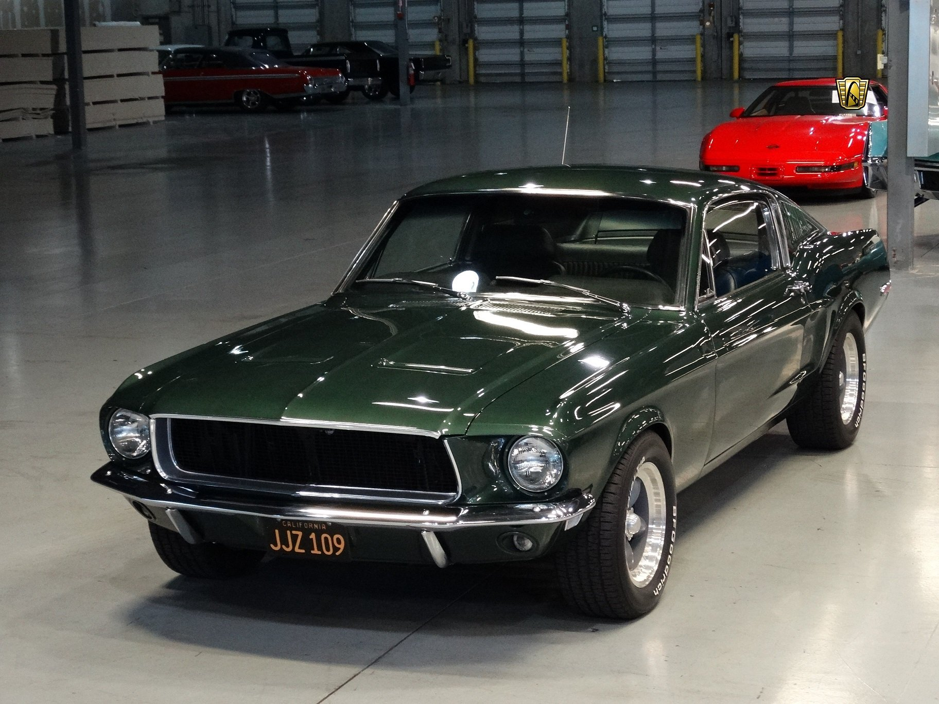 1968 ford mustang bullitt 390 fastback green cars classic wallpaper 1824x1368 802264. Black Bedroom Furniture Sets. Home Design Ideas