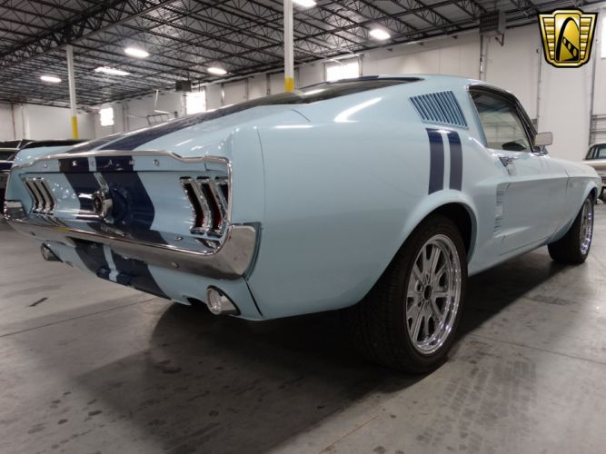 1967 Ford Mustang Fastback blue cars classic wallpaper