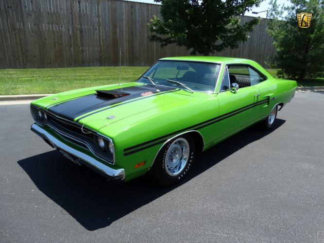 1970 Plymouth GTX 440 coupe green cars classic wallpaper