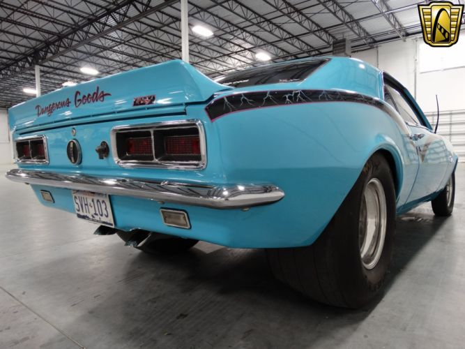 1968 Chevrolet Camaro chevy cars blue classic wallpaper