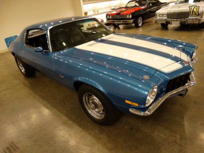 1971 Chevrolet Camaro chevy cars blue z-28 classic wallpaper