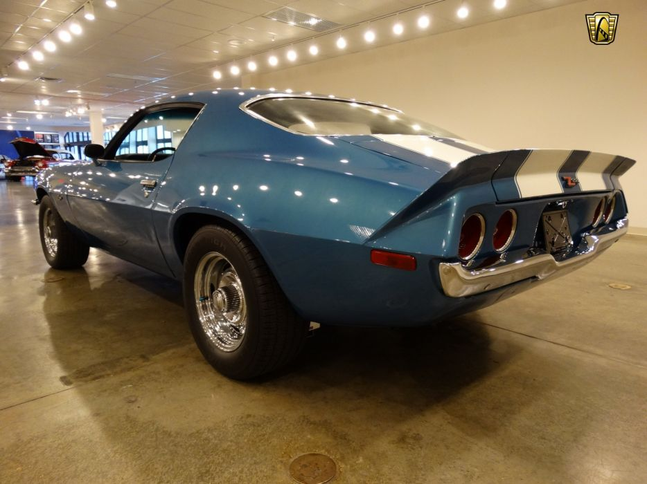 1971 Chevrolet Camaro chevy cars blue z-28 classic wallpaper